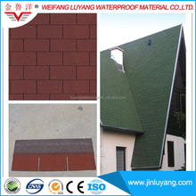 Red Color Cheap 3-Tab Asphalt Roofing Shingle from Professional Manufacturer