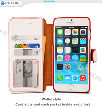 New arrival soft stand leather wallet flip for iphone 6s case