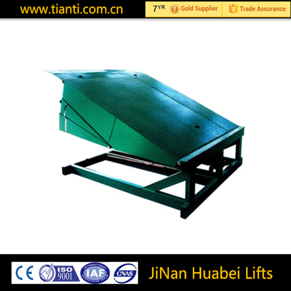 Hydraulic stationary used adjustable loading dock ramp for sale