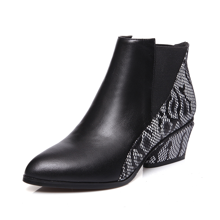 2017 winter new fashion chelsea pointed toe boots women