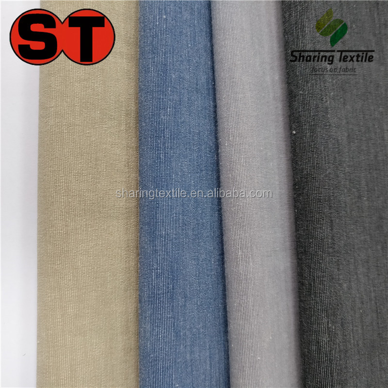 Wholesale Polyester&Cotton Cationic Spandex Jacket Fabric/Two Tones Poly&Cotton Spandex Blazer Fabric/Cattionic Cotton Spandex