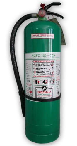 Ideal for all classes of fire: A - Ordinary Combustibles B - Flammable Liquid C - Electrical Fires (Non-conductor of electricity