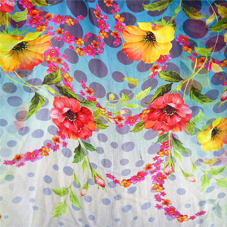 Top sell 12MM 140cm 100% Pure printed Silk satin Fabric