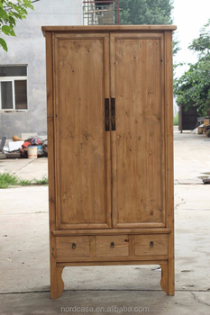 Chinese Antique Furniture Natural Tall Cabinet
