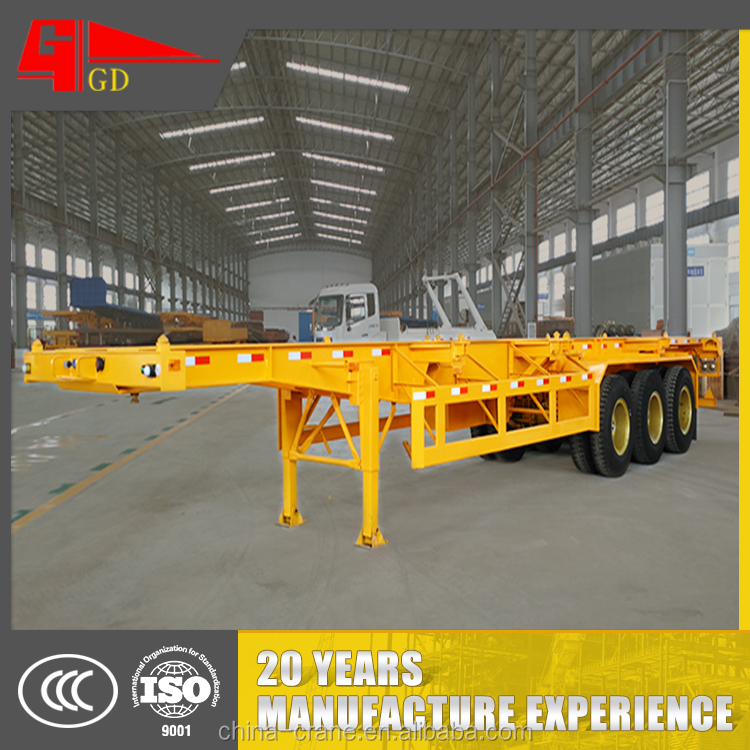 Guangdon Golden 40FT Two Axle Skeletal Container Semi Trailer (12locks)