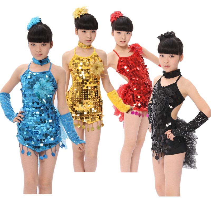 Get Quotations · latin dance costumes for women dance dresses with fringe  paillette Latin dancewear sequin leotard vestido baile 27c65977a0db