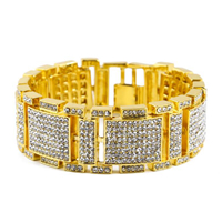 Wholesale Gold Plated CZ Micro Paved Fashion Jewelry Bracelet For Men