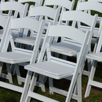 event padded resin folding chair wedding chair