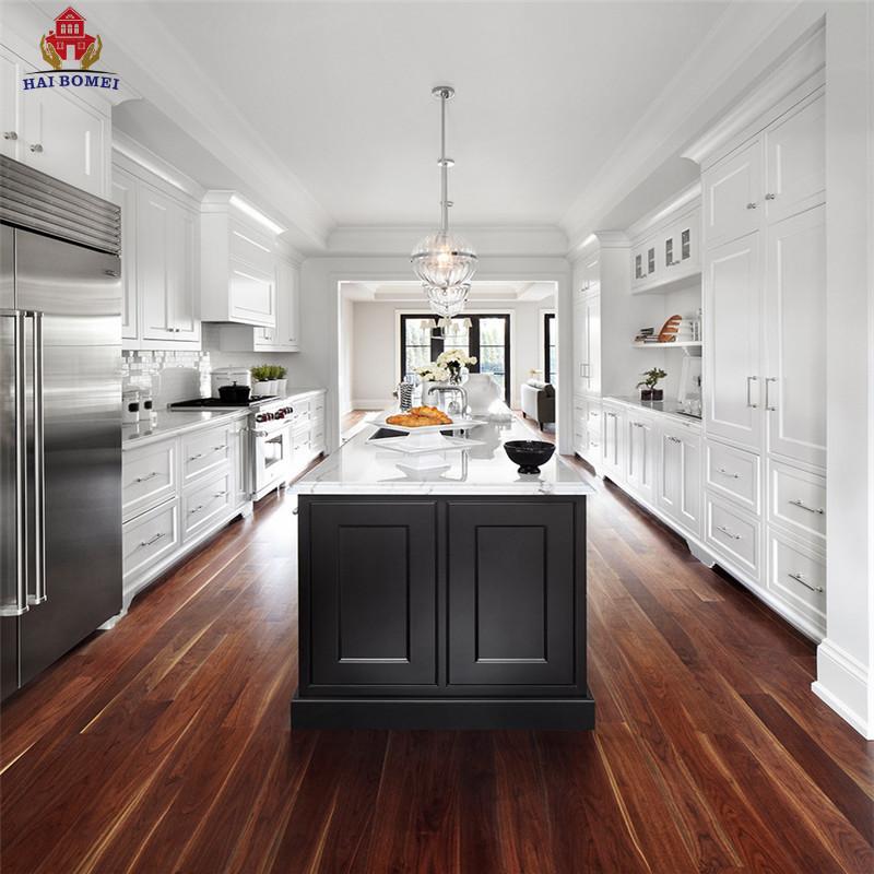 Bomei Modern Simple Style custom Design PVC Kitchen Cabinet