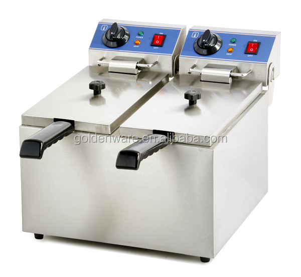 EF-062 The Most Popular Professional double electric deep fryer commercial