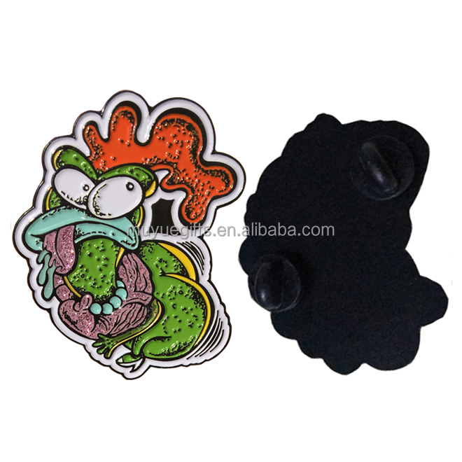direct china manufacturer produce wholesale custom dye black metal enamel pin