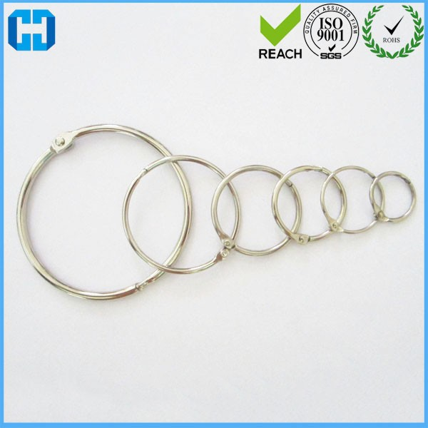 Silver Metal Book Rings Snap Rings Book Binding