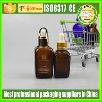 2017 New arrival square glass dropper bottle clear amber eliquid bottle