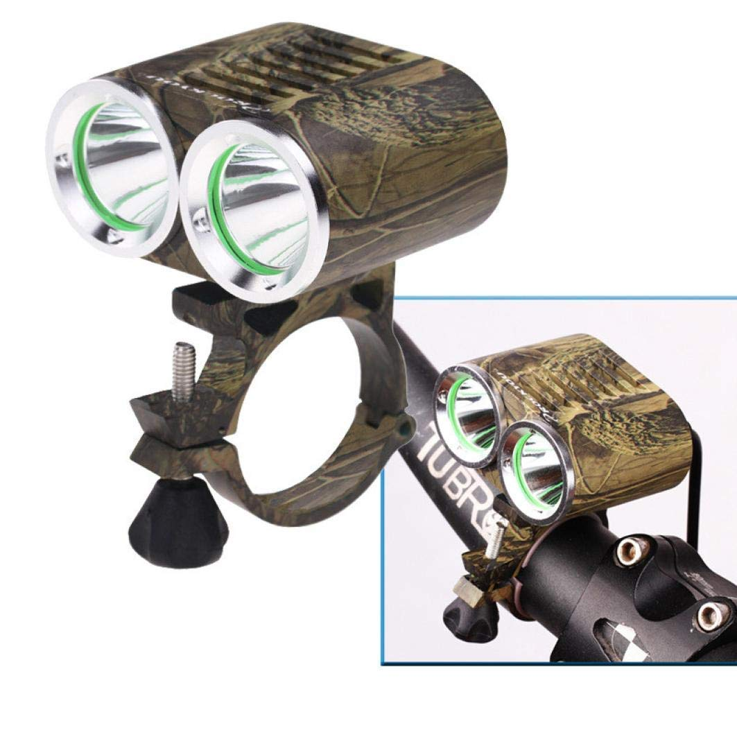Glumes Front Bike Light USB Rechargeable|Ultra Bright Powerful Safety Front light|2000 Lumens|2 XM-L T6 LED |4 Light Mode Options|IP65 Waterproof|for all Bikes/Helmets (★ Camouflage)