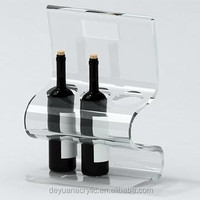 Wine glass bottles acrylic holder and perspex display products