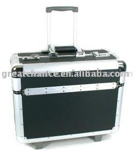 Aluminum Rolling Sample Case Salesman Suitcase - Buy Rolling Case ...