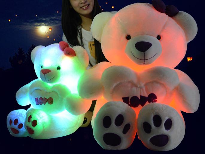 Wholesale Led Teddy Bear Toy Holding Love Pillow/plush Led Bear ...