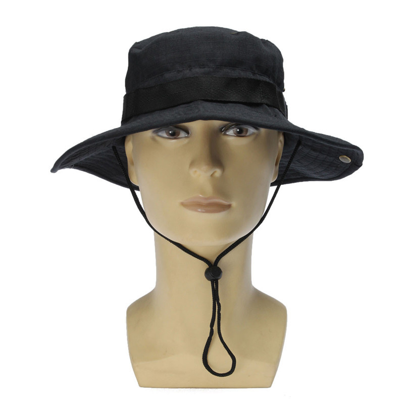 d9921afdeb1 Fashion Camoulfage Summer Hat Cappello Uomo Bucket Hat Boonie Hunting Fishing  Outdoor Cap Wide Brim Military