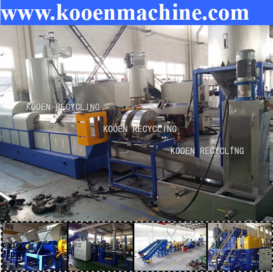 Reprocession for export waste LDPE film recycling line