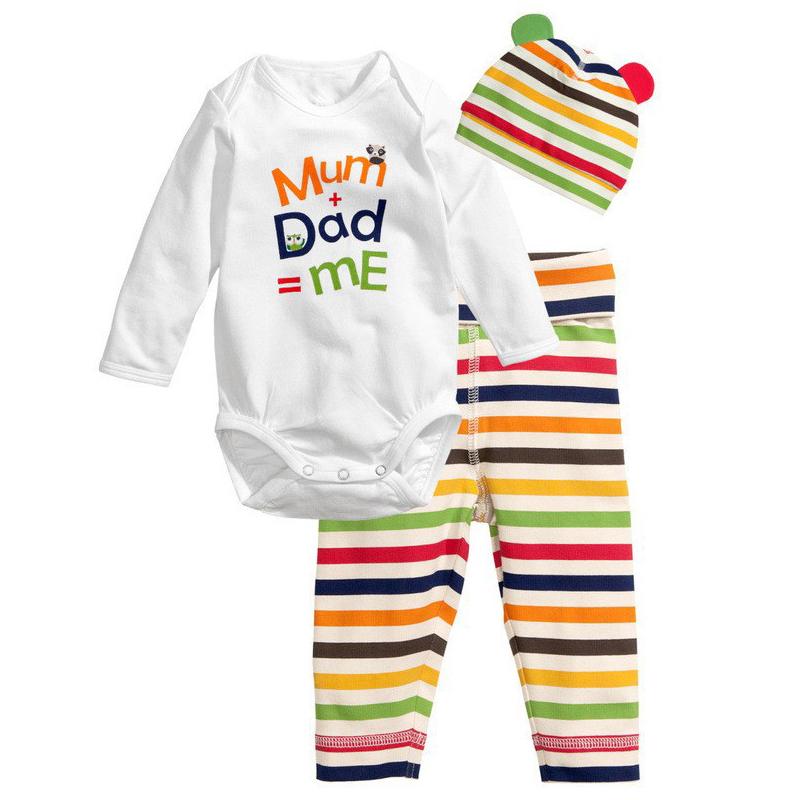 8e575db39 (romper+pant+hat) Fashion Baby Layette Infant Toddler Girl Boy ...