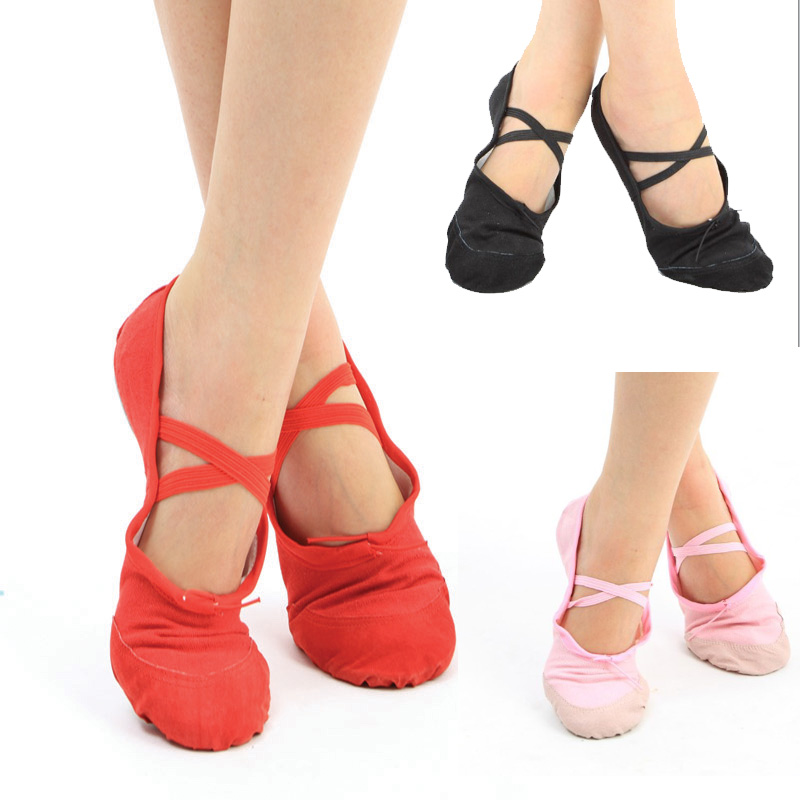 Free shipping Ballet dance shoes teachers shoes soft sole practice shoes yoga shoes x01