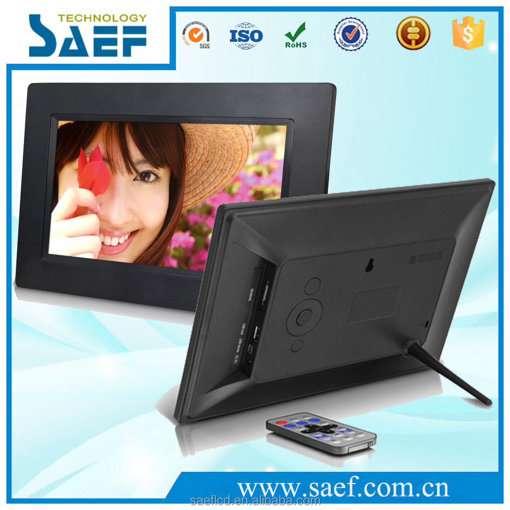 USB/SD/Mini USB port digital photo frame 7 inch display for advertising lcd commercial media player