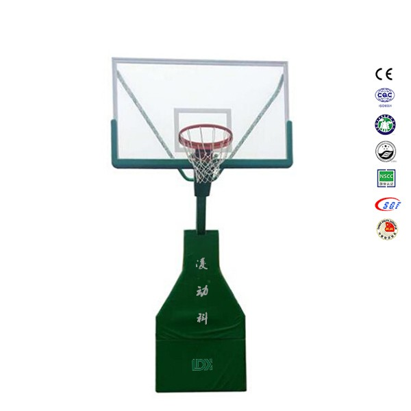 Electric hydraulic basketball hoops stand portable basketball system
