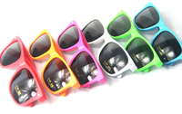 Latest promotion custom colorful neon plastic sunglasses with your logo