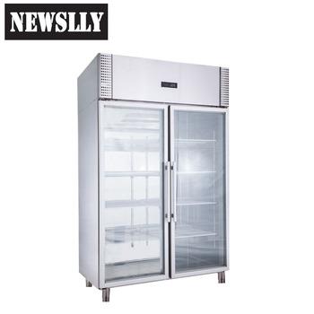 Glass Door Merchandiser High Quality Vertical Deep Freezer Stainless