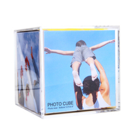Customizable Large Acrylic Cube Digital Photo Frame