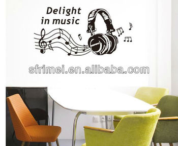 Living Room Sticker TV Sofa Background Wall Music Decoration Fashion Headset KW