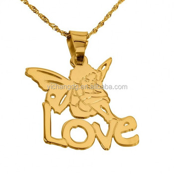 New design name pendant necklace24k gold plated angel pendant new design name pendant necklace 24k gold plated angel pendant with name mozeypictures Choice Image