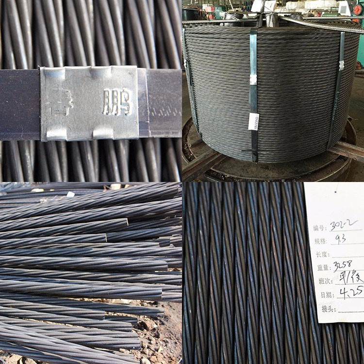 High Tensile Prestressed Concrete 9.53/12.7/15.2/15.7mm PC Steel Strand