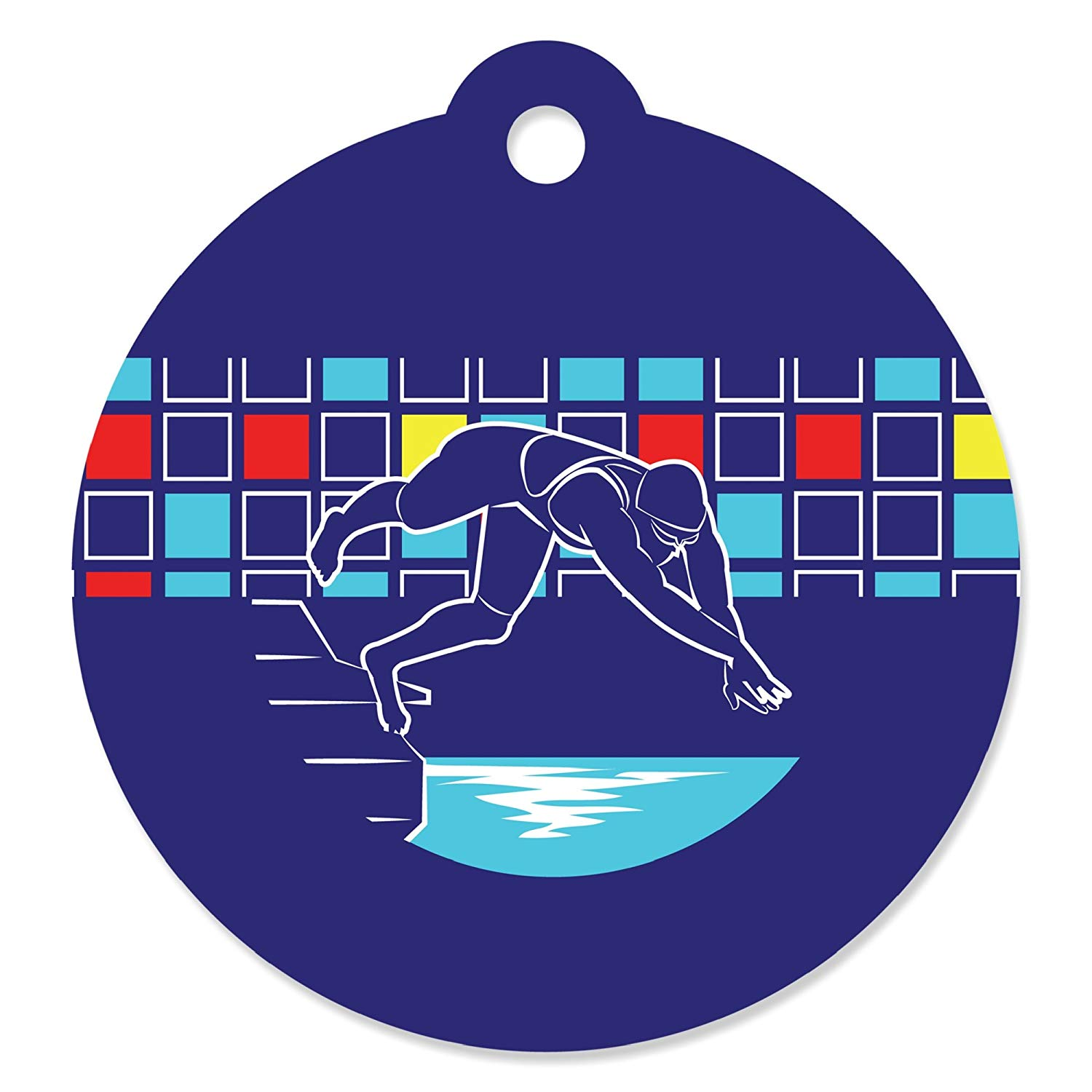 Making Waves - Swim Team - Swimming Party or Birthday Party Favor Gift Tags (Set of 20)