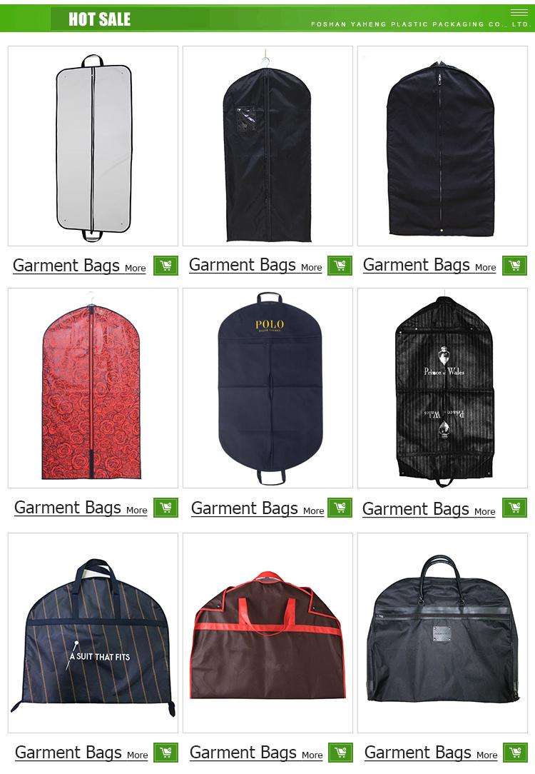 カスタムロゴ不織布ガーメントバッグスーツカバー旅行ガーメントバッグ