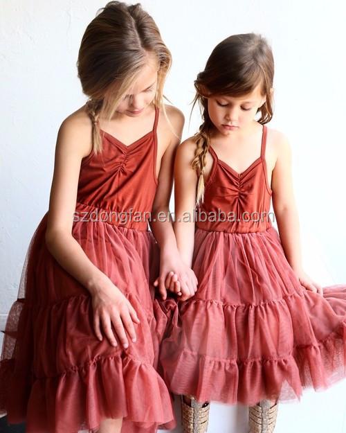 a3ef1f977 2016 verano vestido chicas de algodón vestido diseños vestidos para los  niños de edad 5 6