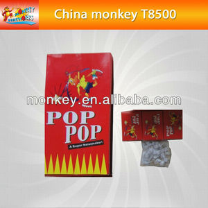 Party red boy box pop pop snapper color paper for christmas for children safety fireworks for sale(T8500)
