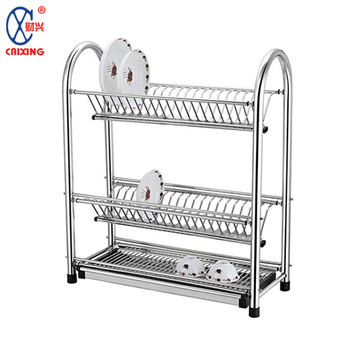 Kitchen Storage Organizer 3 Tier Stainless Steel Dish Drying Rack Plate  Shelf - Buy Kitchen Storage Rack,Dish Drying Rack Kitchen,Kitchen Shelf  Rack ...