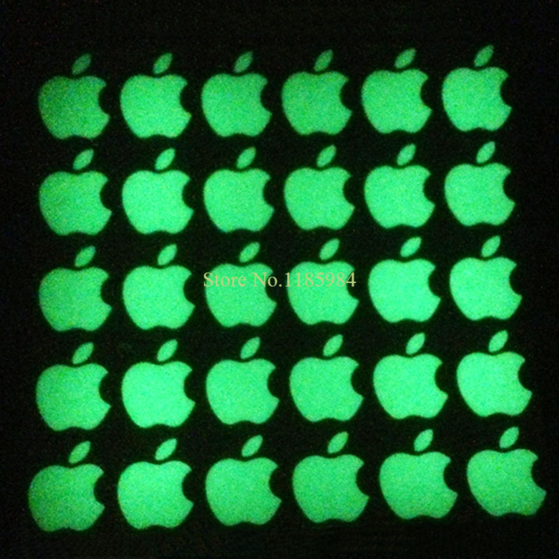 Нулевая прибыль горячая DIY прохладный видимый люминесцентные логотип наклейка для Apple , iphone 3GS / 4S / 5 / 5S зеленого естественного света светового стикером B3
