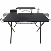 Gaming Table Home Computer Desk with Cup Holder and Headphone Hook Gamer Workstation Game Table