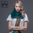 Lady hair woolen collar scarf in fashionable artificial fur shawl women's new autumn and winter heat preservation scarf