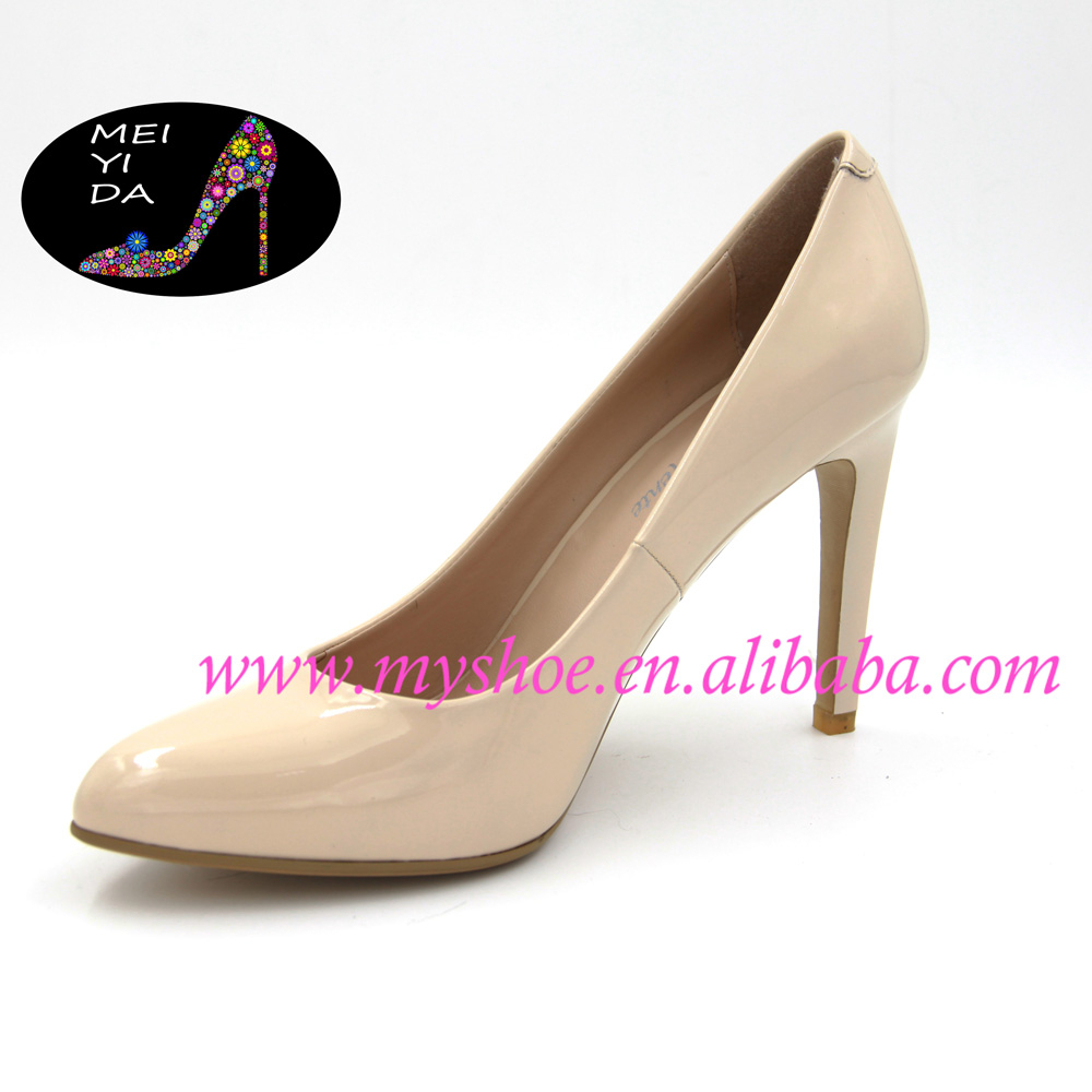 Fashionable high-heeled shoes, pumps office