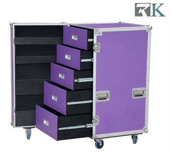 Wheeled Storage Cases With 5 Drawers For Trade Show/Exihibition