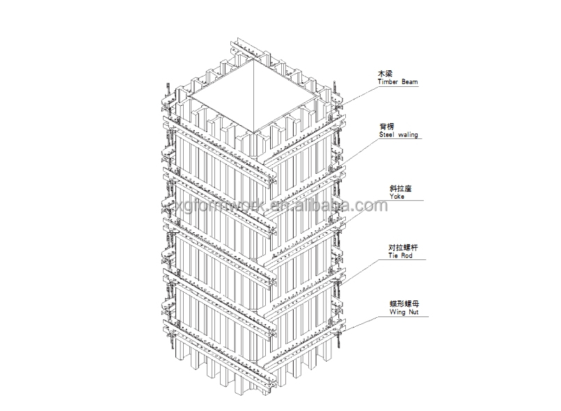 concrete steel column formwork