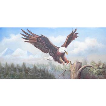 Handpaint Seni Dinding Kanvas Lukisan Hewan Tradisional Elang