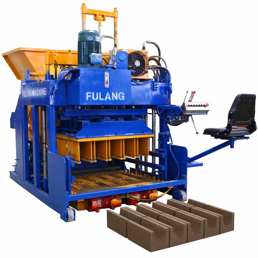 FL10-15 concrete automatic vibrating solid curbstone brick making equipment