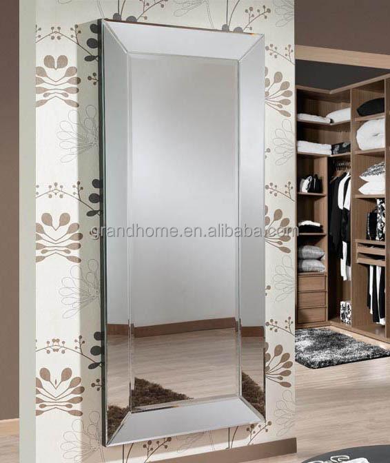 casa de madera enmarcado espejo para el saln de belleza rectangular espejo de belleza