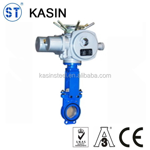 Electric Hard Seal Knife Gate Valve 150LB SS304 material