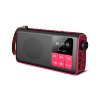 USB aux portable boombox fm radio mini digital speaker read AM FM radio/USB/TF card speaker sound digital display