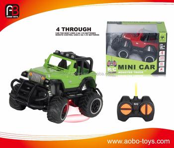 Monster Truck Rc Cars >> Model Car Monster Truck 1 43 4ch Rc Car Plastic Mini Rc Cars For